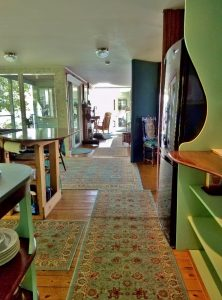 On entering Seanook, see all the way through to the sunroom at the other end of the cottage