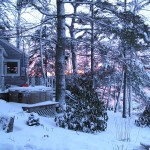 Snow and sunset at Paradise Cottage