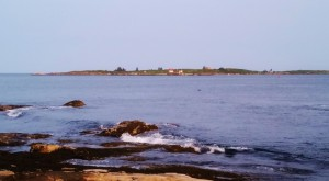Ram and Fisherman's Islands off Ocean Point in summer
