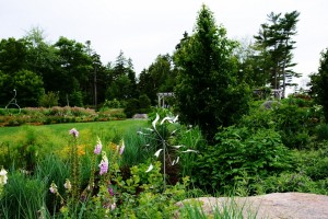 Wind sculptures at the Coastal Maine Botanical Gardens right here in Boothbay