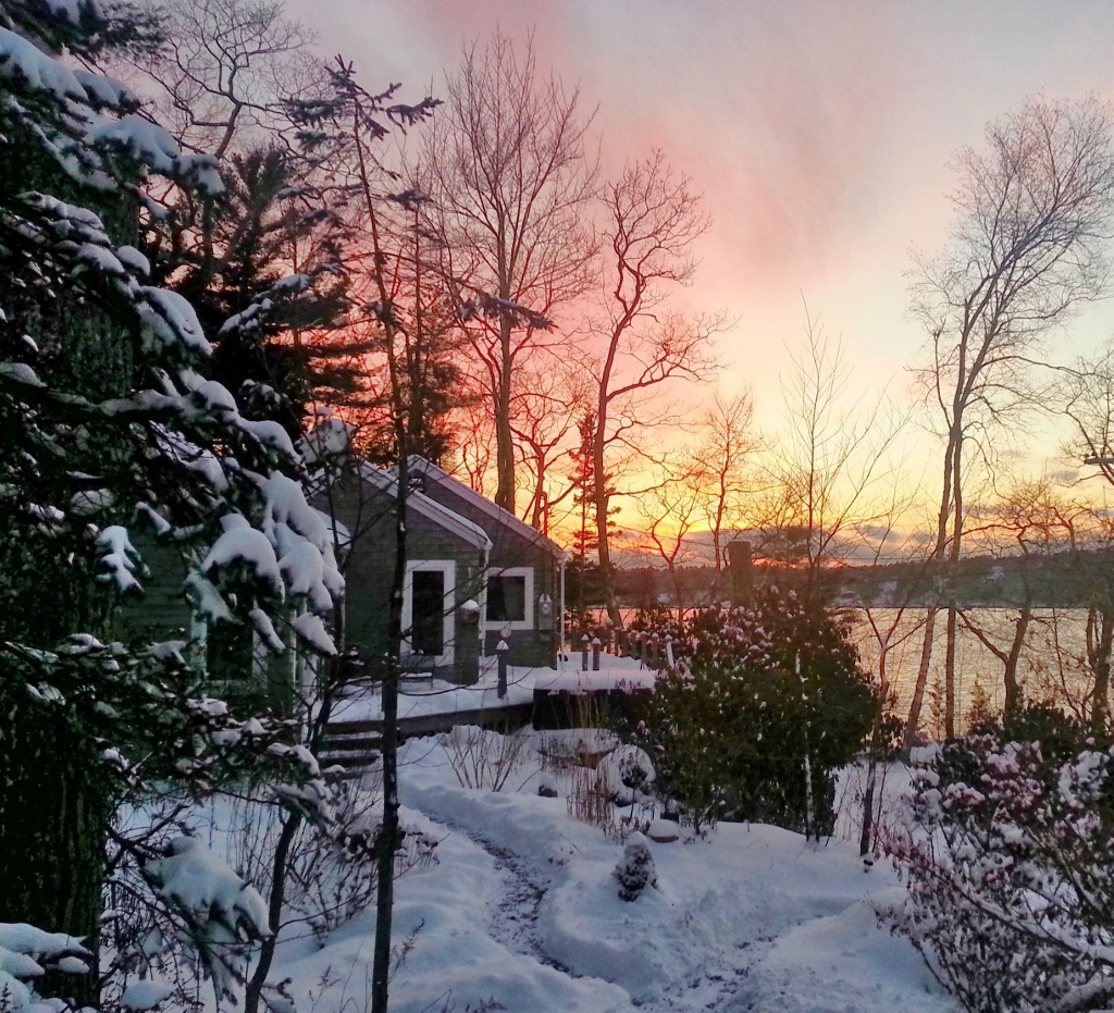 Sunset over Paradise Cottage