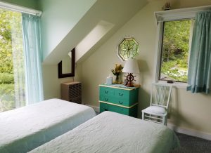 On entering the third bedroom at Seanook with twin beds