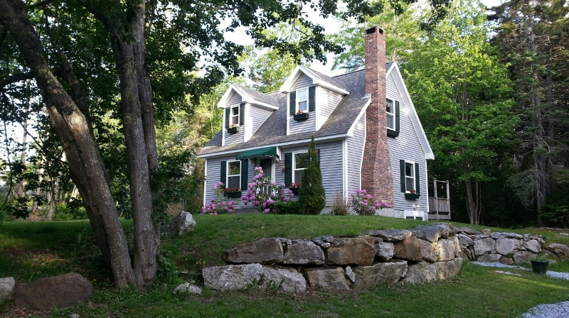 Evening at Tide Walk, your vacation home in East Boothbay