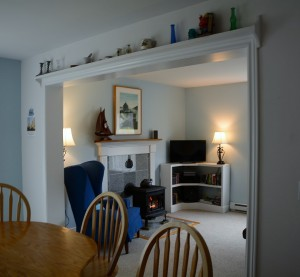 Looking from the kitchen back into the livingroom at Tide Walk